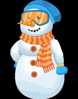 snowman christmas cartoon character