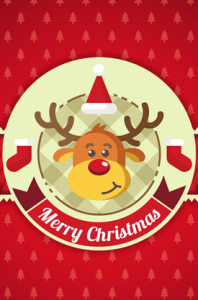reindeer christmas vector sticker