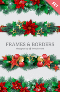 christmas frames and borders vector