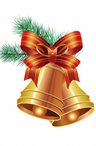 Vector Christmas Bells with Ribbon
