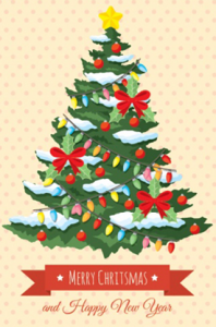retro christmas tree vector design