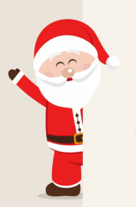 Vector Santa Claus waving