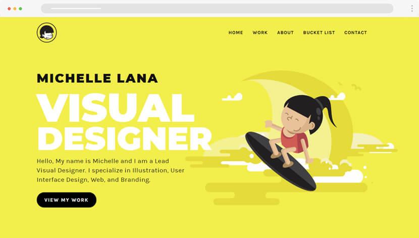 Mitch Lana Website with illustrations