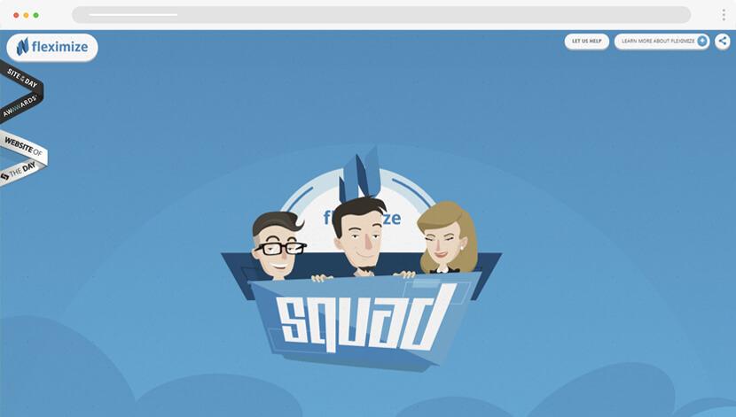 Fleximize cartoon website