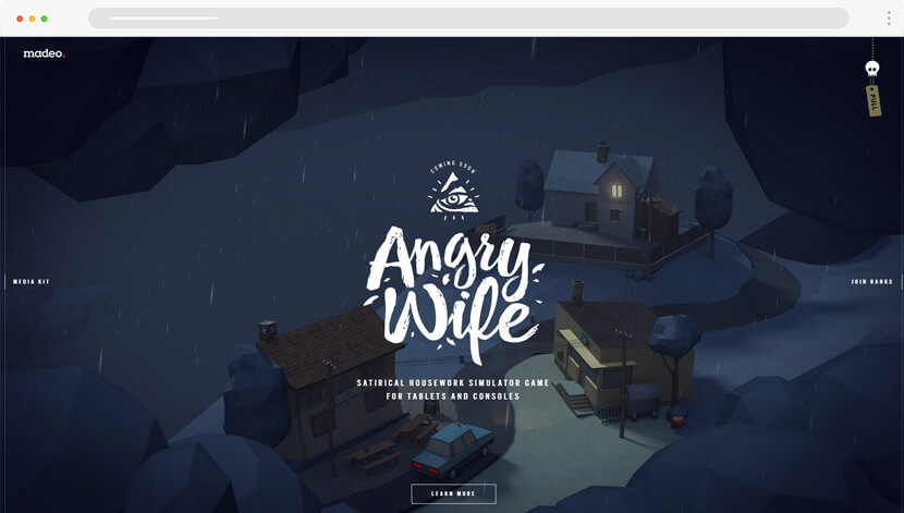Angry Wife Game illustration web design