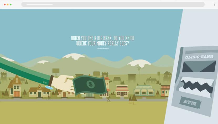 Make Your Money Matter modern-graphics web design
