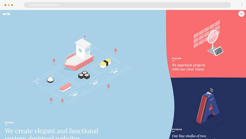 Waaark minimalist illustrations web design
