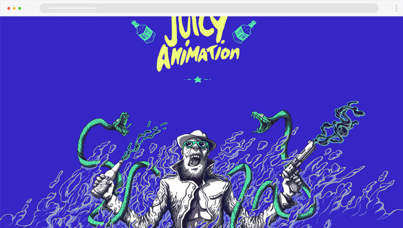Major Savage artistic website design