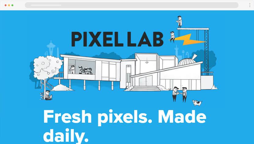Pixel Lab Minimalist web illustrations
