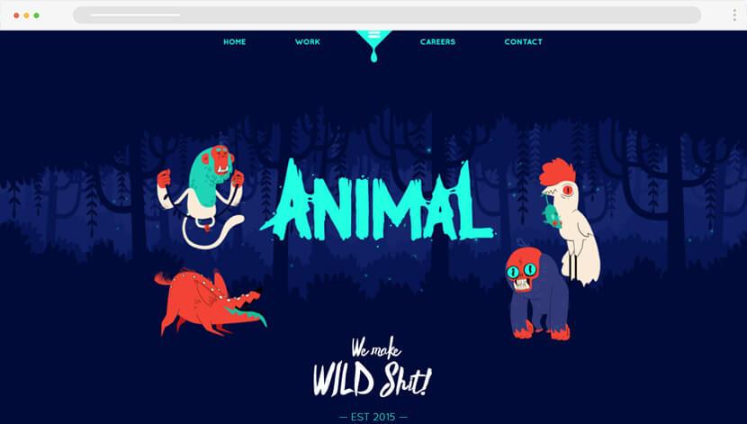 Funny Animal illustrations website