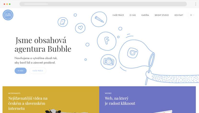 Follow Bubble Linear Illustrations