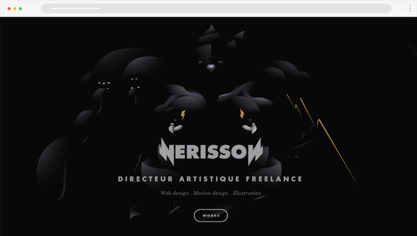 Nerisson realistic illustration website