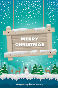 Merry Christmas Sign on Christmas Background