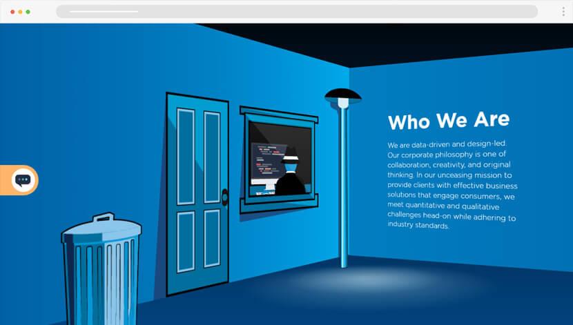 CreativeMob animated website design