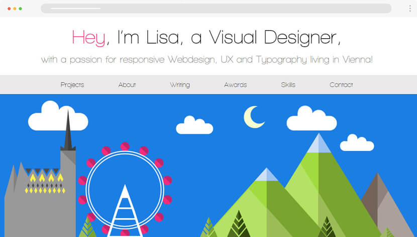 Lisa Gringl designer portfolio website