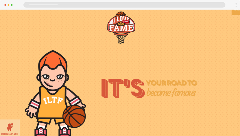 I Love This Fame illustration characters website