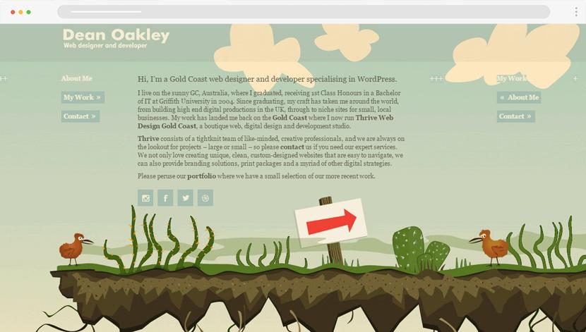 Dean Oakley cartoon story website