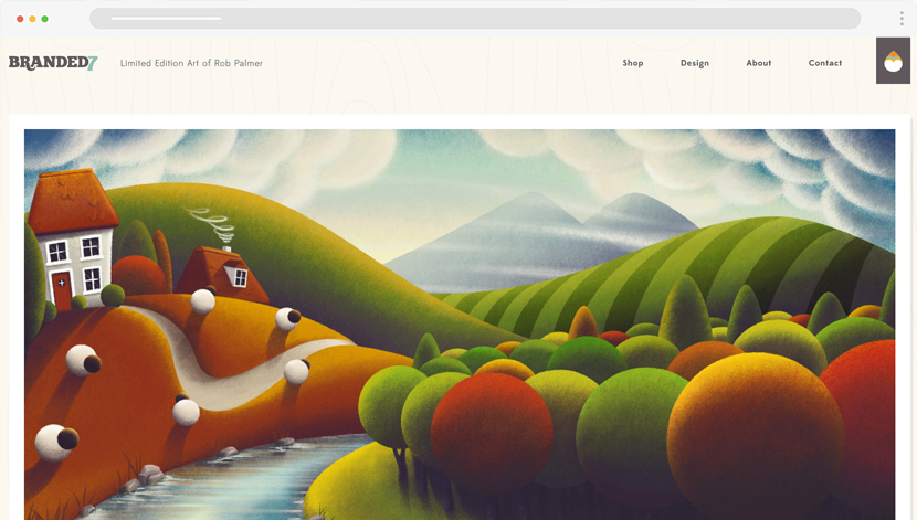 Branded 7 cool website with illustrations