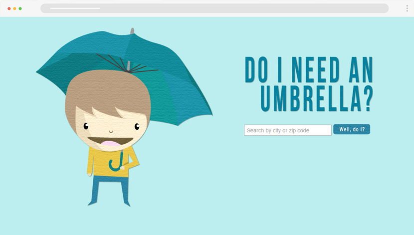 Need an Umbrella weather site with illustrations