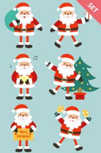 Santa Claus characters vector