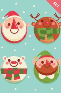 christmas balls with characters