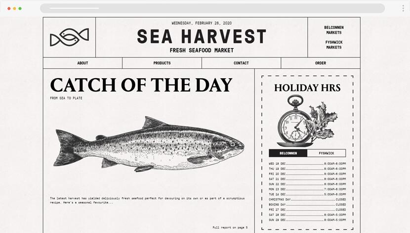 seaharvest vintage graphics site