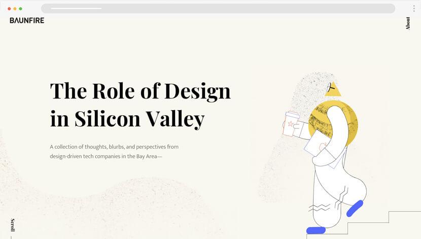 SiliconValley minimalist animations website