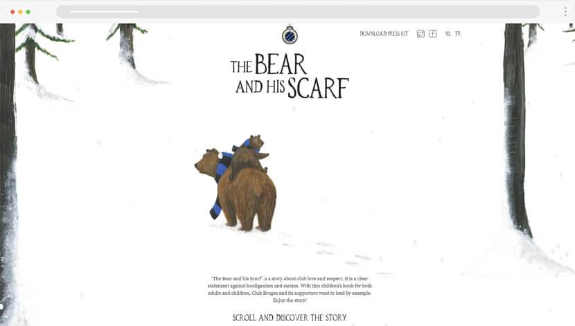 TheBearAndHisScarf illustration based website