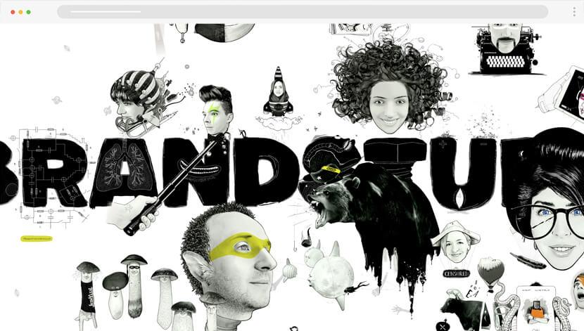 BrandStudio creative website design with illustrations
