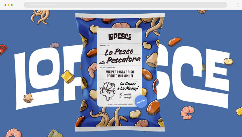 lopesce cool website with cartoon illustrations