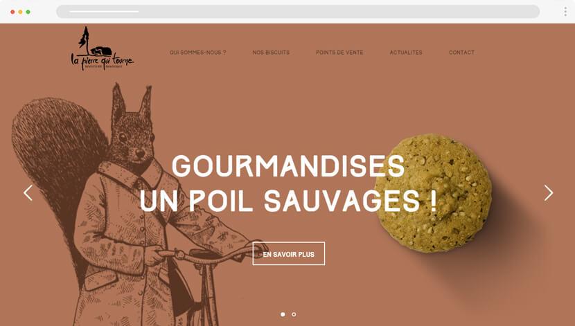 LaPierreQuiTourneweb design with hand-drawn illustrations
