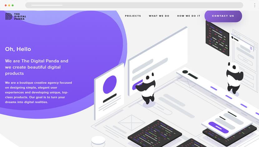TheDigitalPanda creative website design