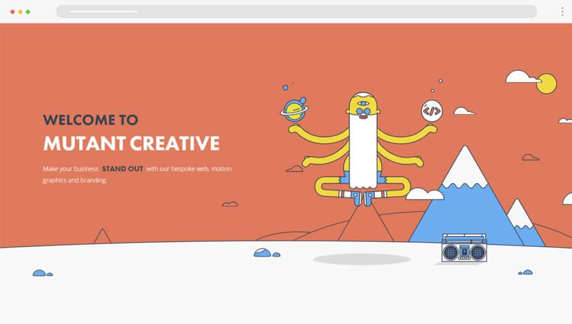 MutantCreative amazing illustrations for website
