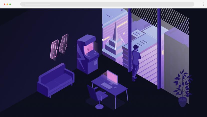 Petr Urbanek amazing animated website