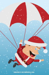 Santa Claus with Parachute