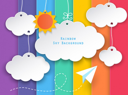 colorful flat background