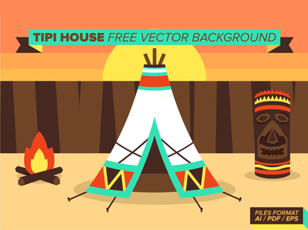 tipi-house-free-vector-background