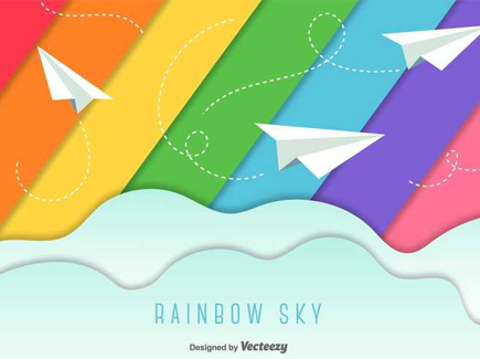 rainbow-colors-flat-background