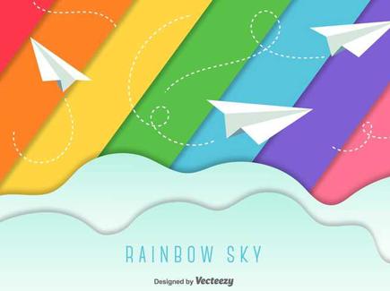 rainbow-colors-flat-background