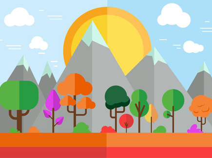 autumn-geometric-flat-background