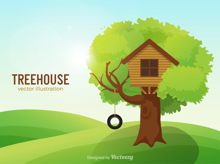 tree-house-cartoon-background