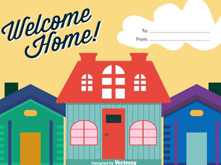 welcome-home-vector-background