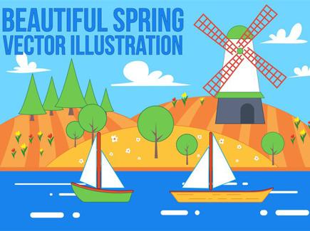 spring-windmill-illustration