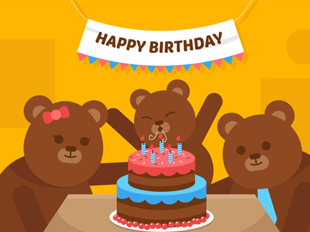 vector-first-birthday-bear