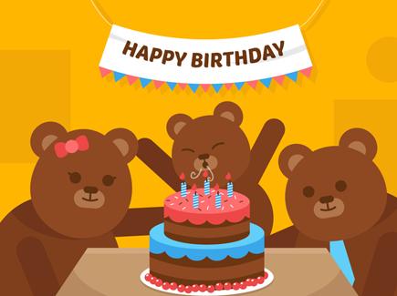 vector-first-birthday-bear
