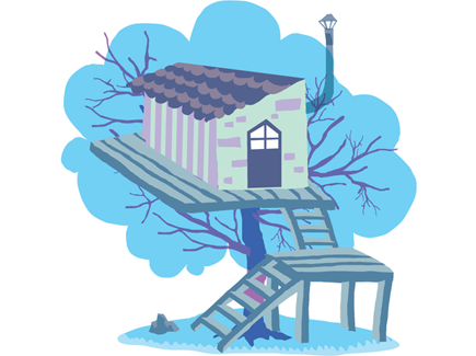 fun-tree-house-vector-illustration