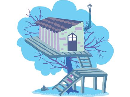 fun-tree-house-vector-illustration