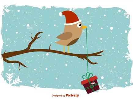 vector-wintery-bird-background