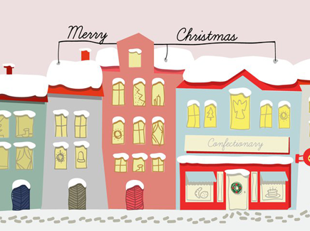 free-hand-drawn-christmas-background-illustration-vector