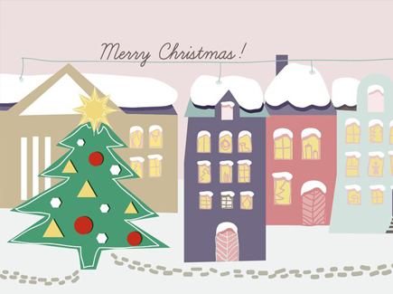 vector-free-hand-drawn-christmas-background-illustration